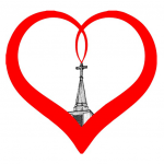 McLeod Heart Icon; Heart eminating from Church steeple.